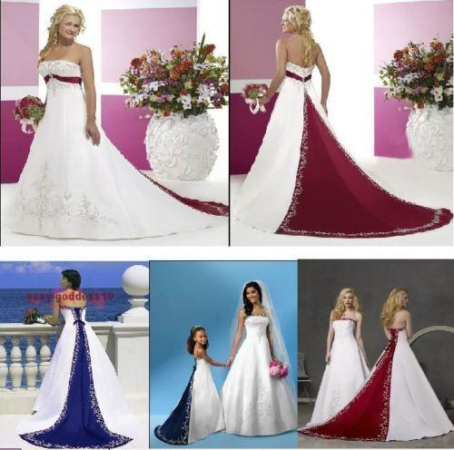 Colorer La Robe Nuptiale Bleue Rouge H13153 De Vert De Robes De Mariage D Accent