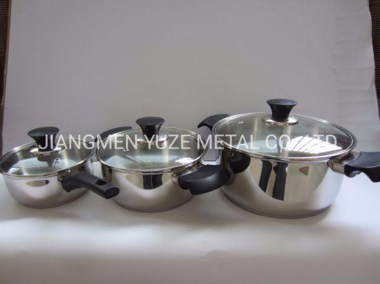 Chine 6pcs Ustensiles De Cuisine En Acier Inoxydable Pots Et