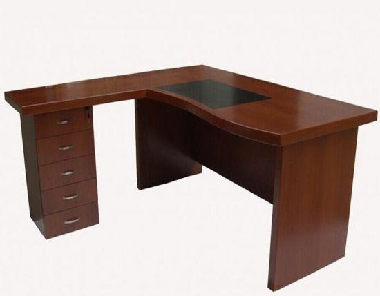 Madera laminada MDF Pintura mesa mesa de oficina mobiliario de oficina  curvo de China (FEC801)