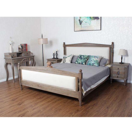 Chambres Queen Size de meubles en bois massif lit de châssis