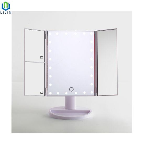 Cina Specchio illuminato di trucco con lo specchio di vanità ...