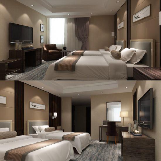Compensato laminato a prova d\'umidità con la mobilia della camera da letto  dell\'hotel dell\'impiallacciatura per il progetto cinque stelle dell\'hotel  ...