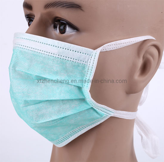 masque jetable bleu