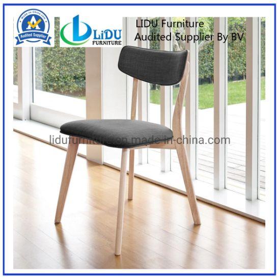 China Silla de roble macizo moderno comedor de madera Silla ...