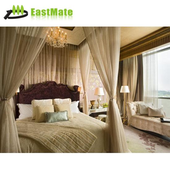 Hôtel de luxe en bois classique chambre à coucher meubles (EMT-SKB05)