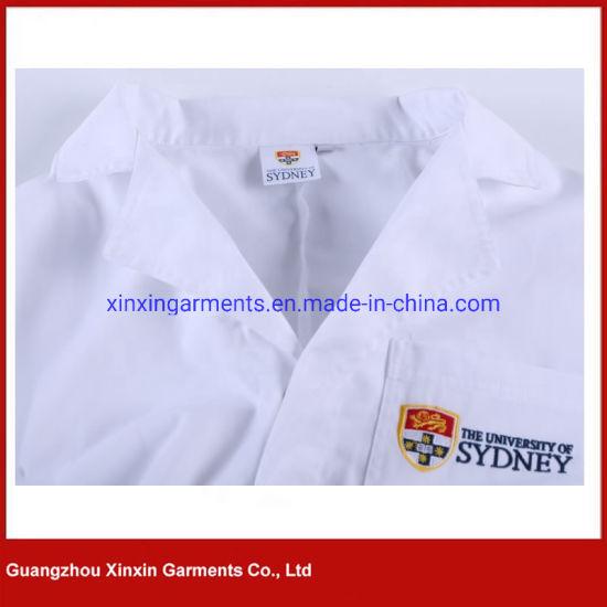 China Custom blanca de manga larga de alta calidad a los