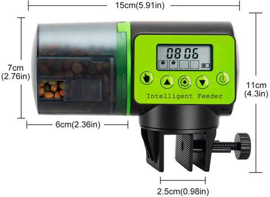 Intelligent Tiempo Fish Feeder Ajustable Automático Acuario Temporizador Ajuste