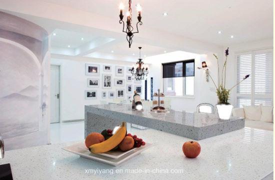 Crystal de Cuarzo blanco prefabricados encimera de piedra para cocina,  cuarto de baño y armario/Island/Hotel