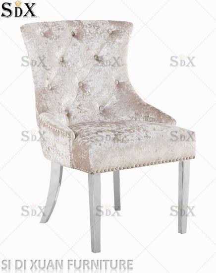 China La pierna de acero inoxidable sillas tapizadas sillas ...
