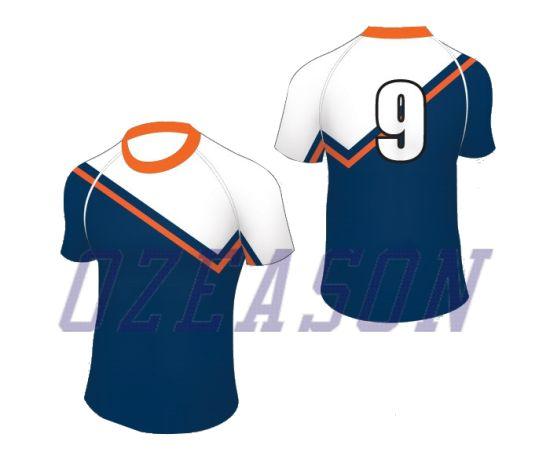 nueva productos calientes venta de liquidación seleccione para el despacho Comercio al por mayor baratos sublime personalizadas Camisetas de Rugby de  rayas, uniforme de Rugby