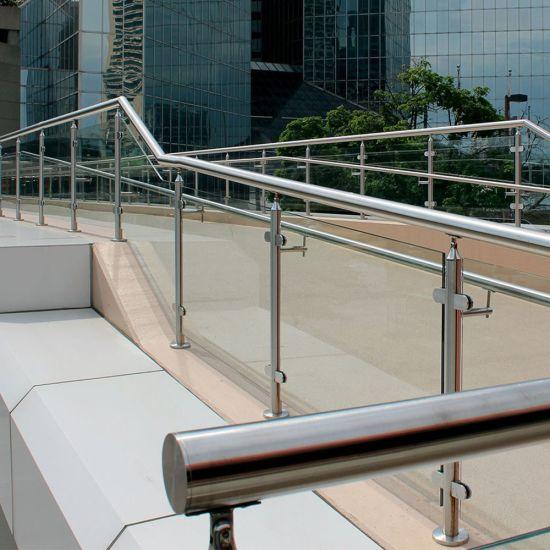 China Diseño Con Baranda De Cristal Inox Baluster Para