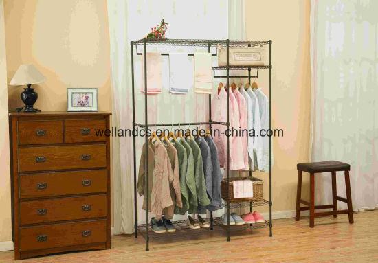 Disegno flessibile del guardaroba del metallo della cremagliera dei vestiti  della mobilia della camera da letto di prezzi giusti DIY