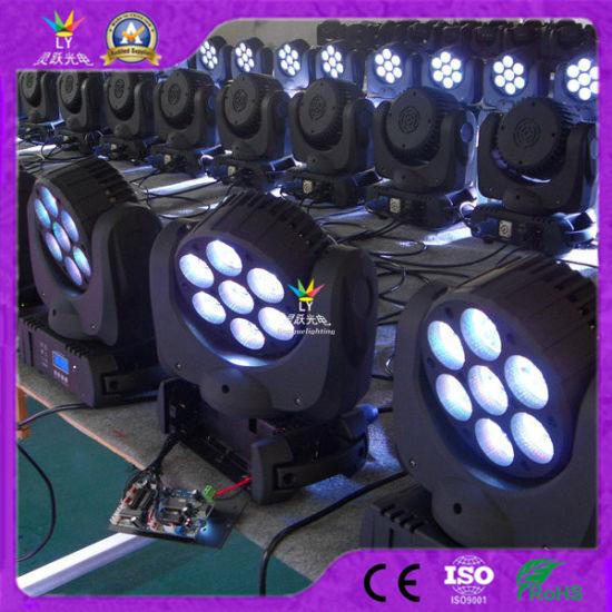 China cambia de LED movimiento 7X12W en haz de luz color vIYb76gmfy