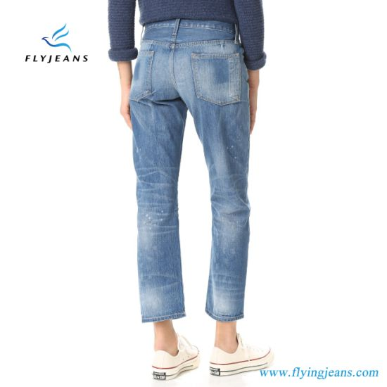 China Las Mujeres De Moda Novio Flojos Pantalones Vaqueros Algodon Denim E P 330 Comprar Mujer Jeans En Es Made In China Com