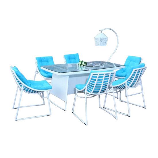 Exterior moderno barata fuera de mesa y sillas de comedor Patio venta  conjuntos de muebles de jardín