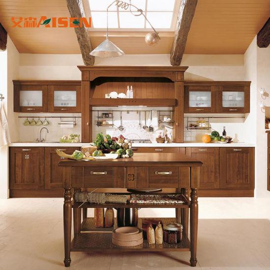 Cina Armadi da cucina professionali di legno solido di ...