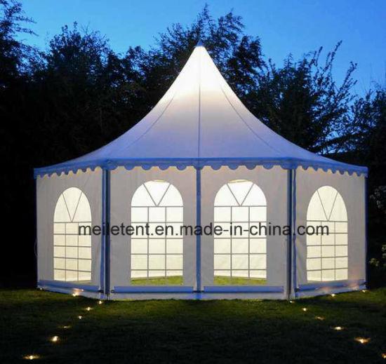 65m2 tente de jardin hexagonal Waterrpoof parti tente de mariage