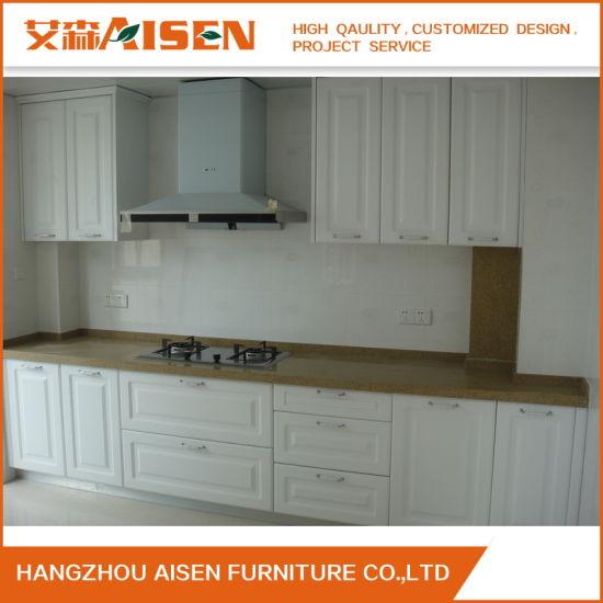 Cina Appartamento Uso White Piccola Cucina Cabinets Con ...