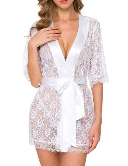 Femmes Lingerie vêtements de nuit dentelle G-String Babydoll Sheer Sous-vêtements Nightwears New