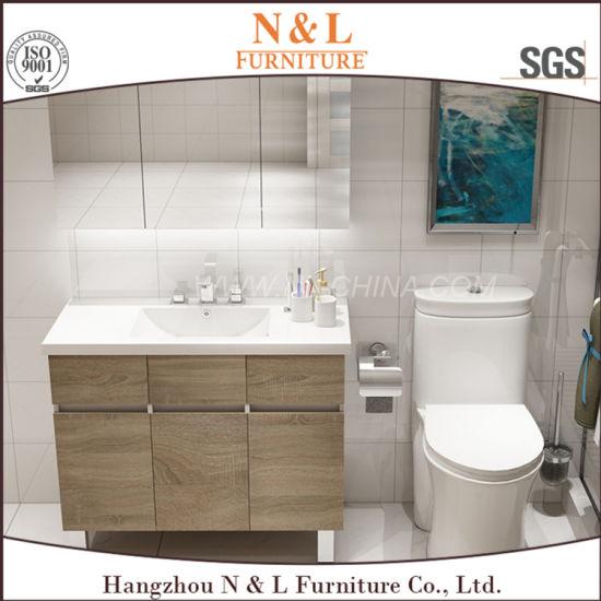 Chine N&L Salle de bains moderne en chêne MDF vanité Cabinet ...