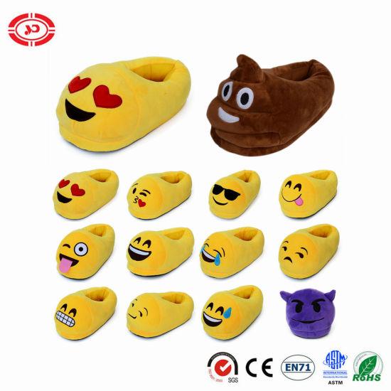 Chine Grimace pantoufle Emoji jaune doux mignon jouet en