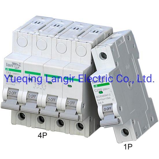 63A de la energ/ía del disyuntor de circuito del aire miniatura de baja tensi/ón de 250V DC 2P Interruptor solar 16A 32A 16A