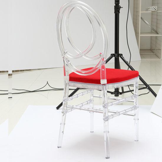 Chine Tiffany moderne de l'Acrylique Crystal chaise de salle