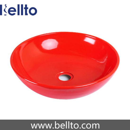 Lavabo Rojo Cristal.China Cristal Rojo Pequeno Lavabo Con 41cm De Diametro C