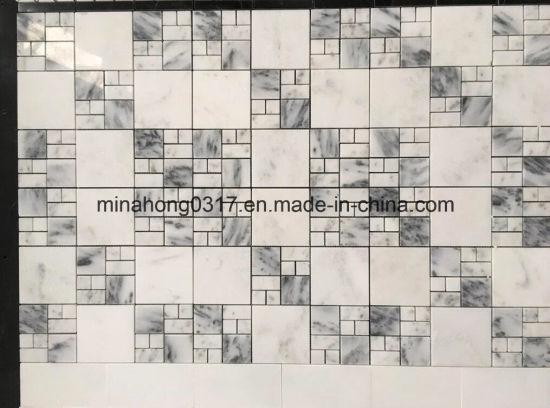 China Weißes Marmor-/Granit-Mosaik für Wand-/Küche-/Fußboden ...