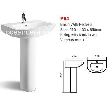 Lavabo Manos.Lavabo De Ceramica Lavabo Para El Lavado De Manos Con Pedestal Num P84