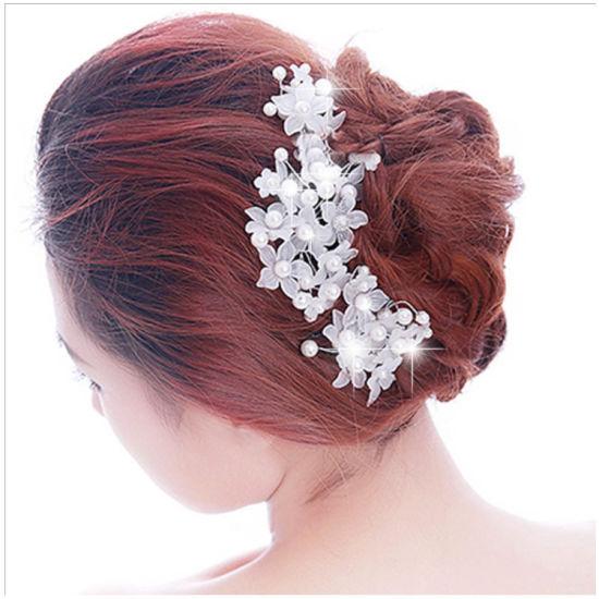 Chine Les ornements de cheveux mariage dépoli Handmade Pearl