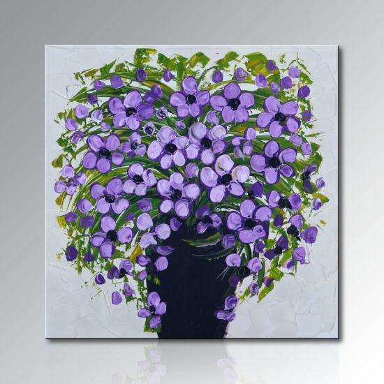 Pure à La Main De L Huile De Fleur De La Peinture Moderne Fl 056