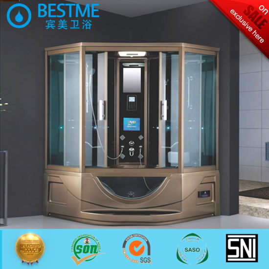Lujoso cuarto de baño de diseño de sala de sauna de vapor caliente ducha  con equipo de instrumentos (BZ-800)