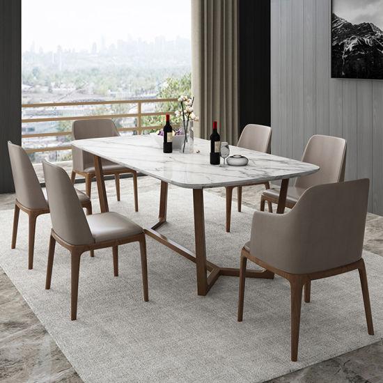 7 pièces Ensemble de salle à manger le petit déjeuner Bar Table, chaises Meubles de cuisine