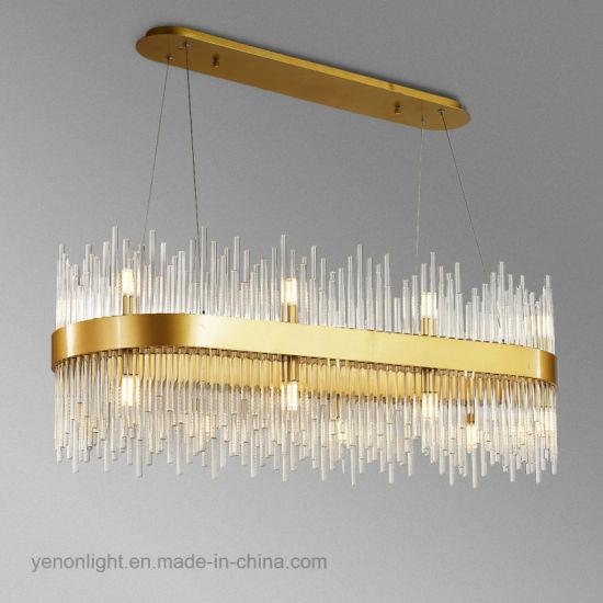 moda moderna la China de cristal de Comedor lámpara LED mnv8wN0