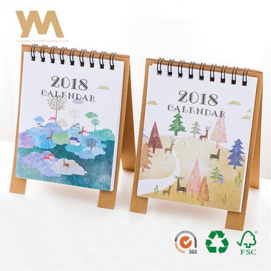 China Papel Criativo Dos Desenhos Animados De Ano Novo Calendario