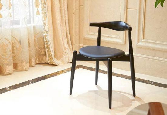 Madera de fresno sillas de comedor modernas sillas de comedor sillones de  cuero sillas equipo L (M-X2019)