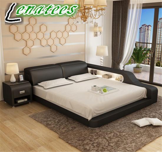 Lb8818 l\'Europe chambre à coucher Mobilier de maison moderne de style avec  LED