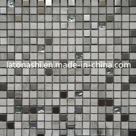 Mosaïque Mosaïque de pierre naturelle pour salle de bains en marbre tuile  de revêtement de sol
