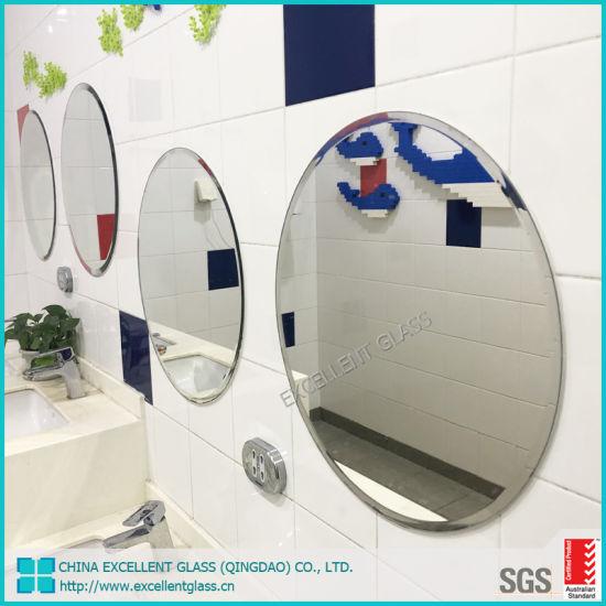 China Ronda de la hoja de vidrio biselado espejo de pared ...