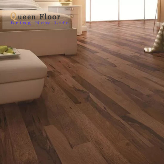China À Prova De Piso Laminado Moderno, 12mm Brazilian Pecan Laminate Flooring