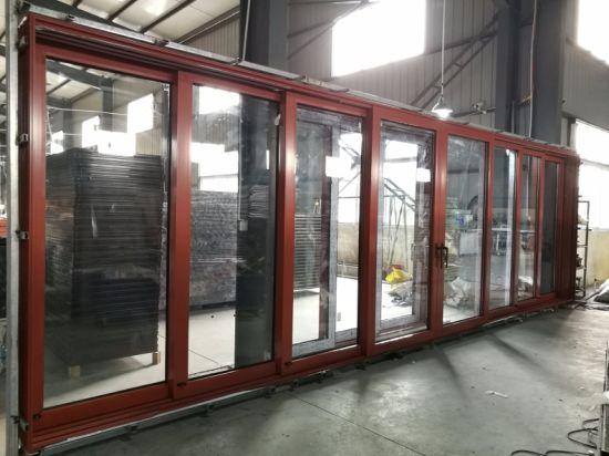 China Bolsillo Corrediza De Aluminio Color Madera La Puerta