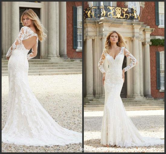 Chine Manches longues robes de mariée robe