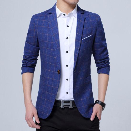 China Breasted Solo Un Botón El Hombre Vestido De Chaqueta