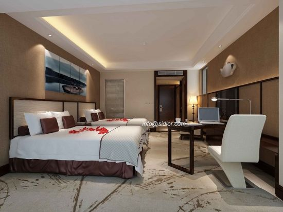 (Cl8004) Mobilia moderna dell\'appartamento dell\'hotel della camera da letto  dell\'albergo di lusso moderno