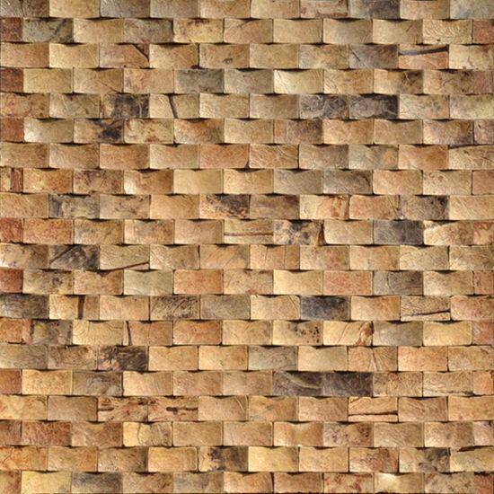 China Capiz Concha Bonita Cáscara De Coco Azulejos Mosaico