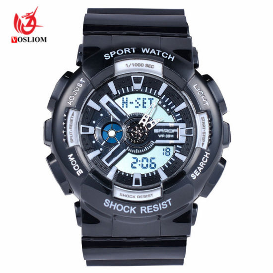 venta de tienda outlet super especiales nueva colección La Mens Relojes de Moda 2018 impermeable del ejército de hombres reloj  analógico-digital de lujo Relojes de Pulsera relojes deportivos -V137