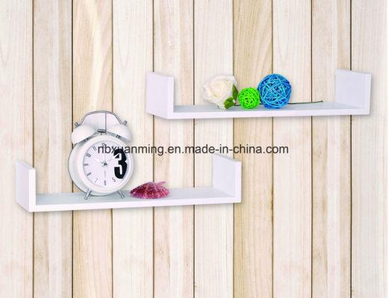 Chine Forme De U Etagere Murale Etagere Murale En Bois Set