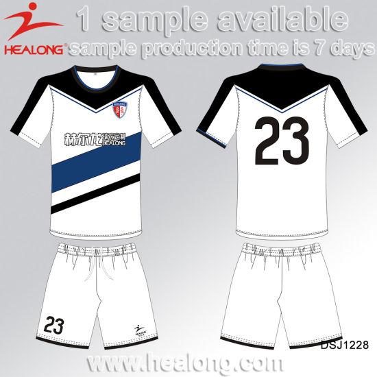 China Healong nuevo diseño de uniformes de fútbol de la impresión digital - Comprar Uniformes de ...