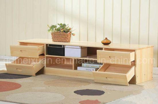 Armoire en bois de pin massif Salon moderne Fashion tiroirs Cabinet  (M-X2517)